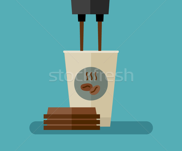 Kahve kâğıt fincan örnek kafe kahvaltı Stok fotoğraf © biv