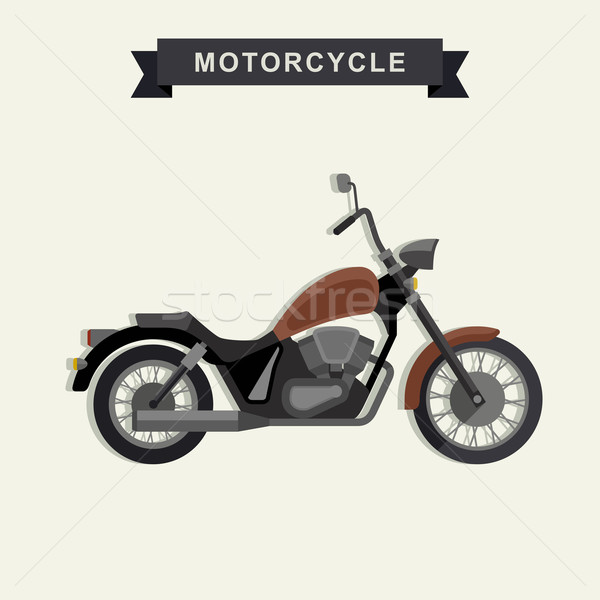 Chopper motorcycle in flat style. Stock photo © biv