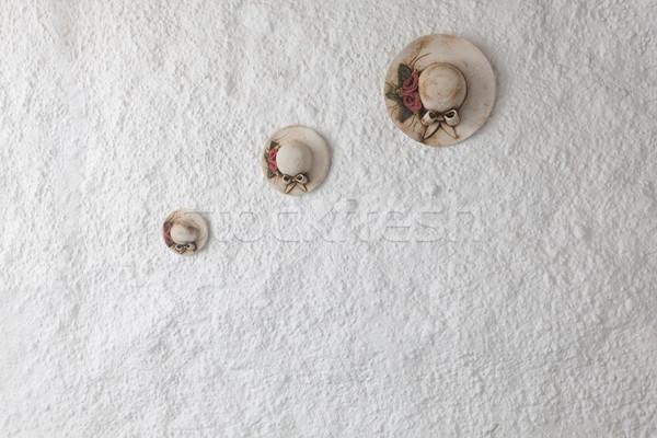 Argila parede belo três Foto stock © blanaru