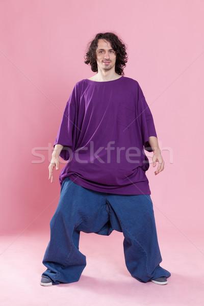 чувство тощий смешные портрет молодым человеком Сток-фото © blanaru