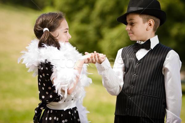 приглашения танцы Focus рук Сток-фото © blanaru