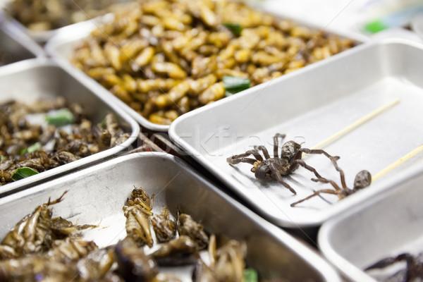 Tayland sokak gıda taze gıda Bangkok şehir Stok fotoğraf © blanaru