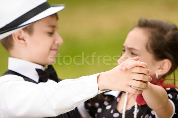 Tánc fiatal pér tánc szórakozás fókusz kezek Stock fotó © blanaru