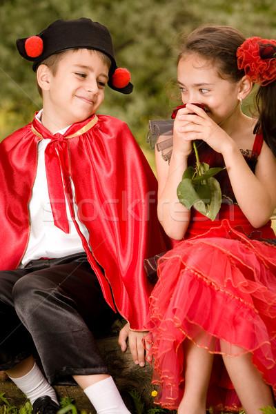 пару портрет испанский стиль одежда Сток-фото © blanaru