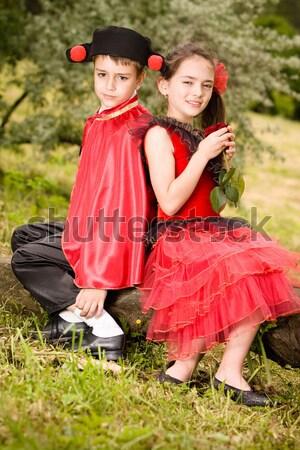 Geç genç İspanyolca stil kız bekleme Stok fotoğraf © blanaru