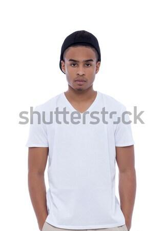 Hip hop african man portrait Stock photo © blanaru