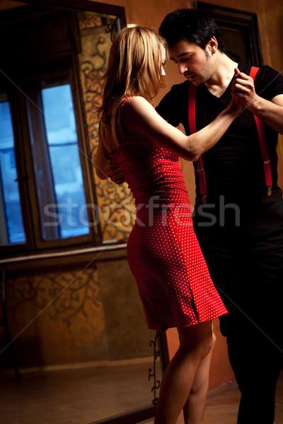 Tango pasión hombre mujer romántica danza Foto stock © blanaru