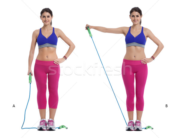 Stock photo: Cord lateral raise