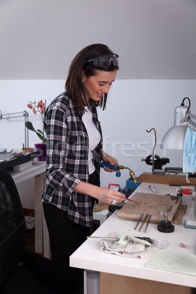 работу ювелир ювелирные изделия семинар инструменты рабочих Сток-фото © blanaru