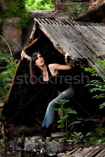 An angel in a harsh world Stock photo © blanaru