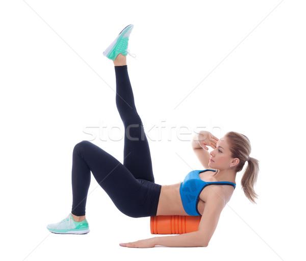 Espuma exercer explicação mulher corpo músculo Foto stock © blanaru