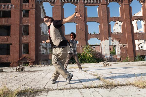 Energetische jungen hip hop Straße Tänzerin Stock foto © blanaru
