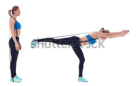 Pose profissional treinador mulher esportes Foto stock © blanaru