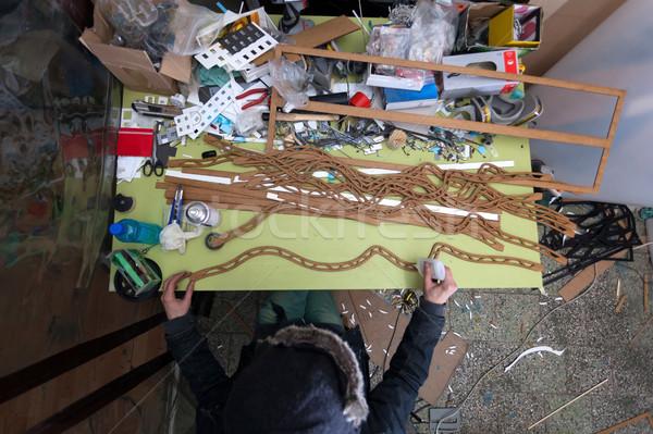 製造 小 アーキテクチャ ビジネス 木材 デザイン ストックフォト © blanaru