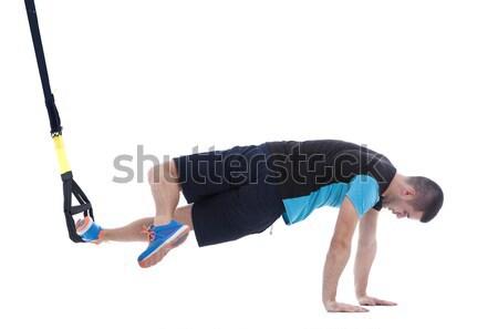 Interno pose profissional treinador corpo Foto stock © blanaru