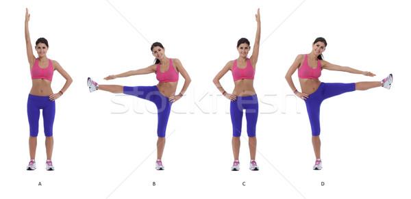Oefening stap instructies armen benen Stockfoto © blanaru