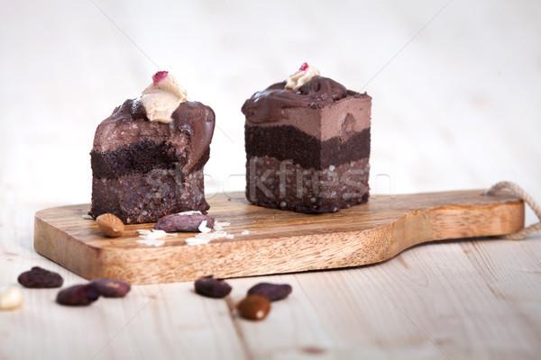 Deux brut vegan gâteaux délicieux texture Photo stock © blanaru
