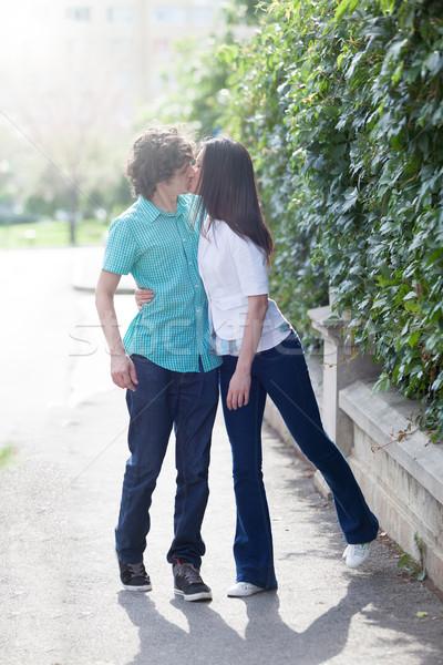Genç dikkatsiz çift muhteşem kalite zaman Stok fotoğraf © blanaru
