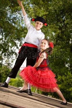 Tánc fiatal pér tánc szórakozás több képek Stock fotó © blanaru