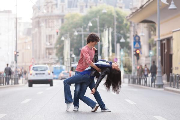 Ouest côte Swing danseurs couple danse Photo stock © blanaru
