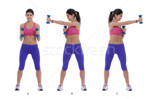 Dumbells - Cross jab Stock photo © blanaru