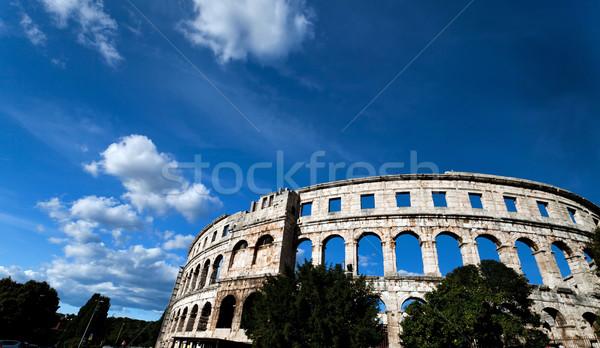 Stockfoto: Romeinse · colosseum · stad · zon · licht · zee