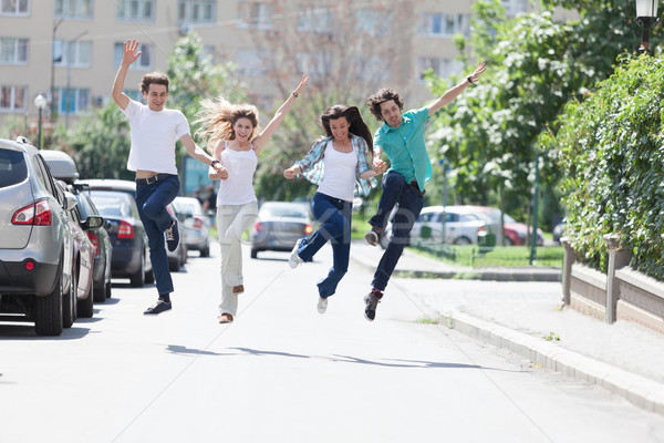 Jump for joy! Stock photo © blanaru