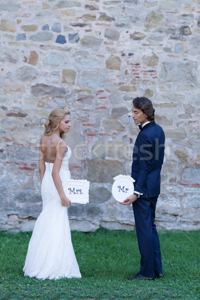 Mrs. and Mr. …forever Stock photo © blanaru