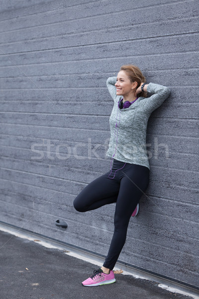 Muziek ziel fitness vrouw Stockfoto © blanaru
