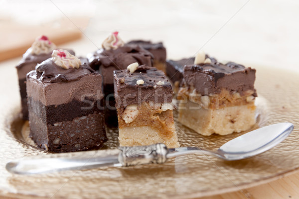 Different raw vegan cakes Stock photo © blanaru