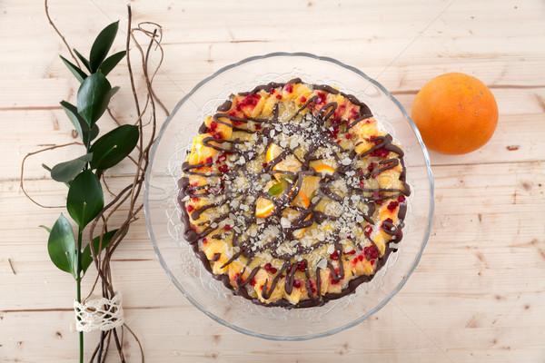 Beautiful raw vegan cake Stock photo © blanaru