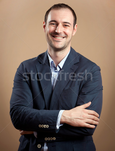 Stock photo: Smiling Businessman