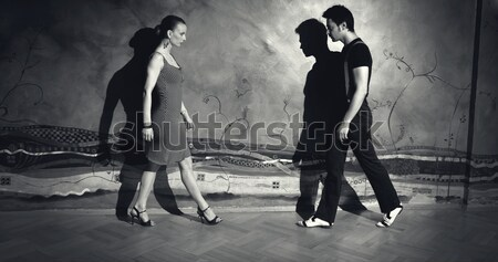 Séduction danse homme femme romantique tango Photo stock © blanaru