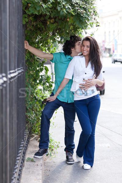 Felicidade casal qualidade tempo cidade Foto stock © blanaru