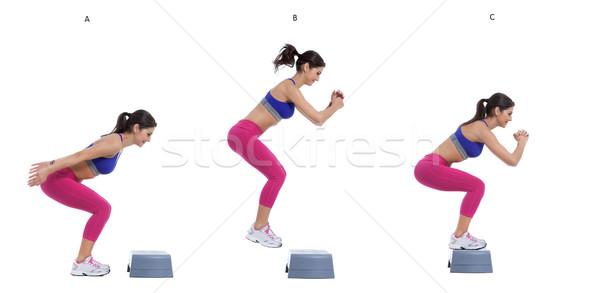 Step jump Stock photo © blanaru