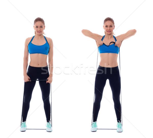 Elastisch band professionele vrouw Stockfoto © blanaru