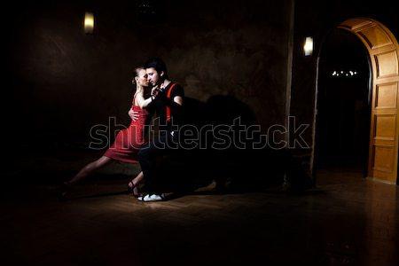обольщение Dance красивой танцоры танго Сток-фото © blanaru