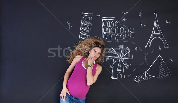 Daydreaming woman Stock photo © blanaru