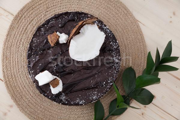 Ruw veganistisch cake heerlijk lokaal Stockfoto © blanaru