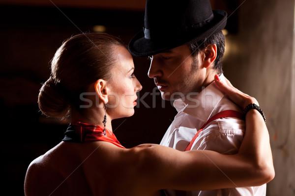 ダンサー 肖像 クローズアップ 男 女性 ダンス ストックフォト © blanaru