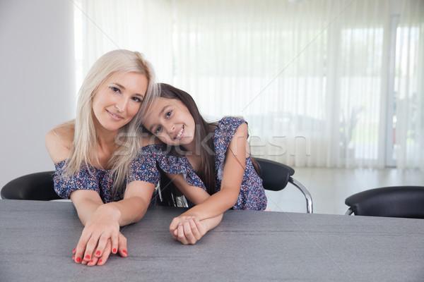 Mère fille qualité temps femme heureux Photo stock © blanaru