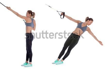 Núcleo fitness treinador manifestação saco exercer Foto stock © blanaru