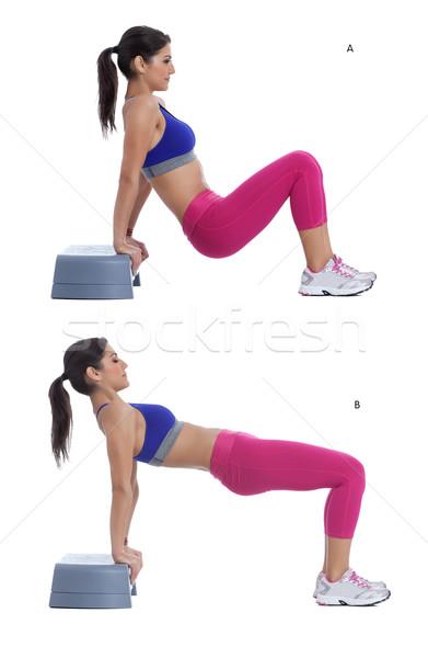 Stepper - reverse plank hip lift Stock photo © blanaru
