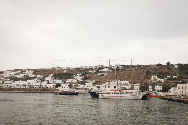 Yelkencilik deniz panorama görmek tekne köprü Stok fotoğraf © blanaru