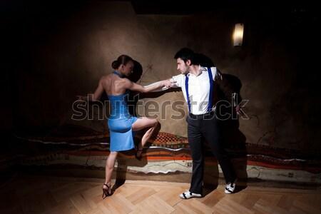Seduzione dance uomo donna dancing tango Foto d'archivio © blanaru