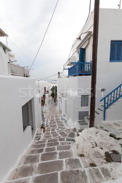 Sokaklarda görmek sokak atmosfer öğleden sonra ev Stok fotoğraf © blanaru