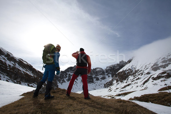 Two man on moutains Stock photo © blanaru