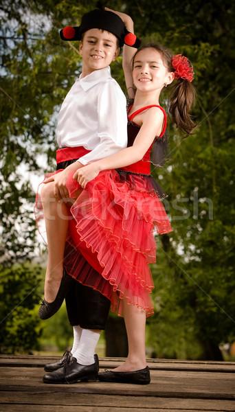 Tánc fiatal pér tánc szórakozás híd több Stock fotó © blanaru