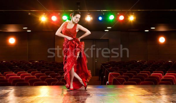 Flamenco szenvedély szexi táncos előad tánc Stock fotó © blanaru