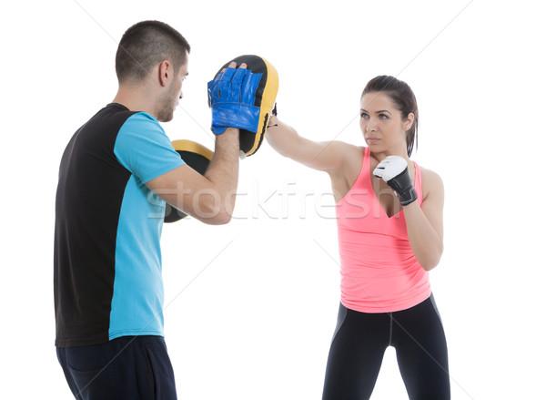 ボクシング 訓練 行使 アスレチック 女性 トレーナー ストックフォト © blanaru